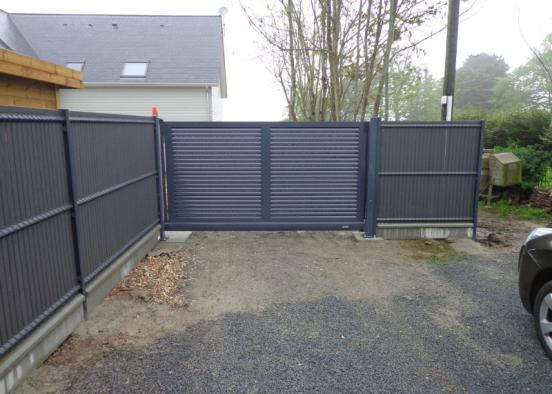 Devis achat et pose d'un portail battant en acier galvanisé pour une résidence en région parisienne