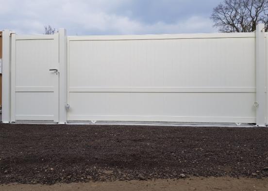 Installation d'un ensemble assorti de Portail & Portillon en aluminium dans le 27